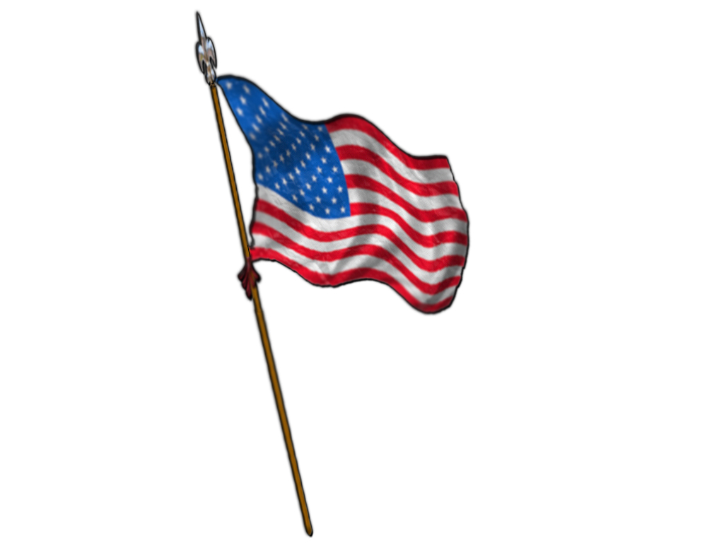 American flag waving clipart 3
