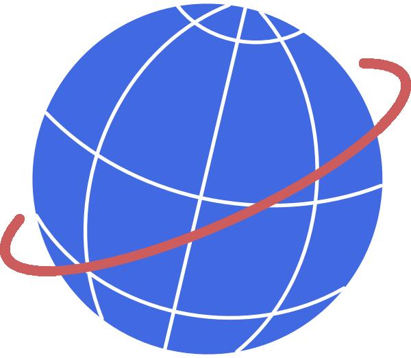 Animated globe clip art 5