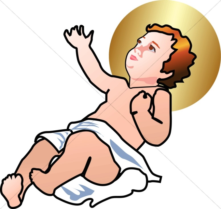 Baby jesus clipart graphics images