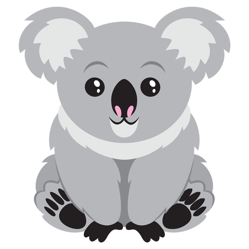 Baby koala clipart