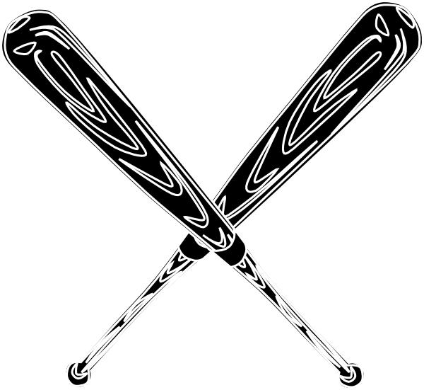 Bat  black and white baseball bat black and white clipart 5