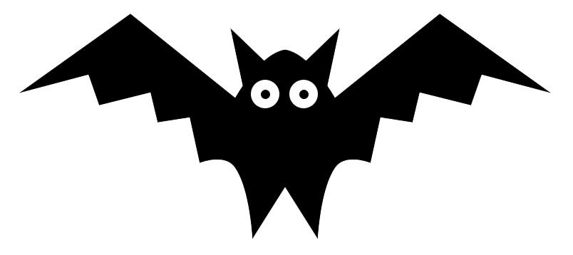 Bat  black and white bat clipart 6