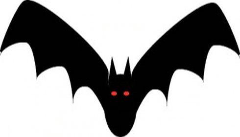 Bat  black and white bat clipart