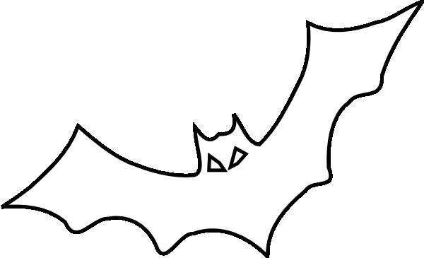 Bat  black and white bat outline clip art at vector clip art
