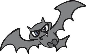 Bat  black and white bats clip art image 7