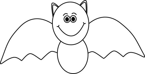 Bat  black and white black and white bat clip art image
