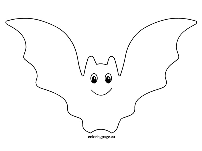 Bat  black and white halloween bat clipart black and white coloring page