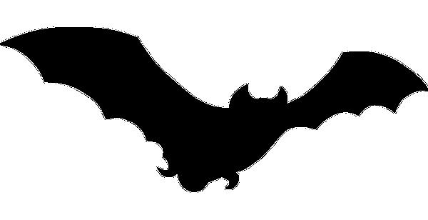 Bat clip art black and white