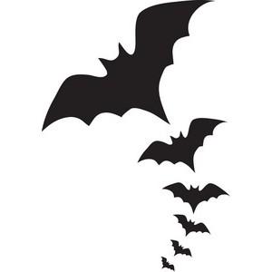Bat  black and white vampire bat clipart