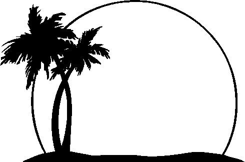 Beach  black and white beach clip art black and white 7