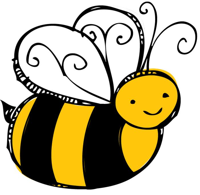Bee  black and white bee clipart black and white hostted 2