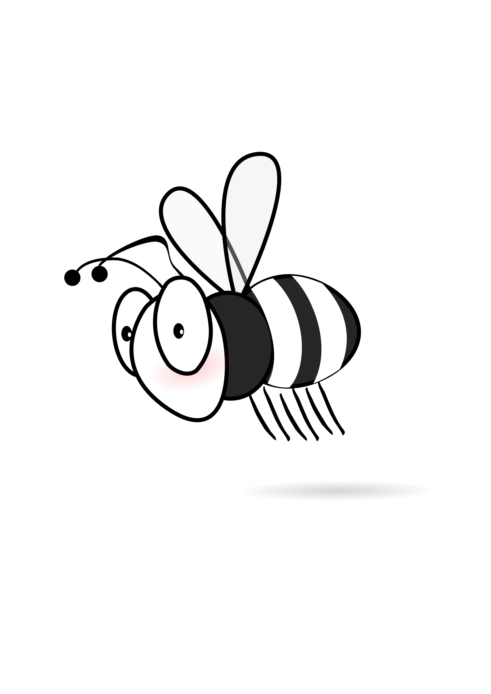 Bee  black and white bee clipart black and white hostted
