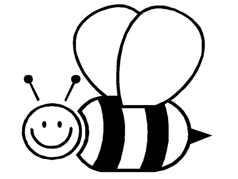 Bee  black and white bee clipart black and white