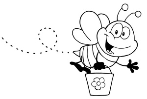 Bee  black and white cute bee black and white clipart 3