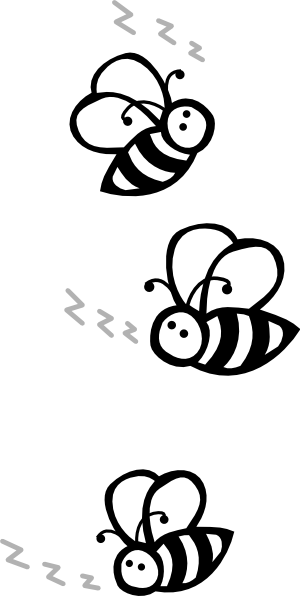Bee  black and white flying bee black and white clipart 2