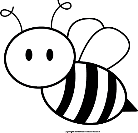 Bee  black and white honey bee black and white clipart