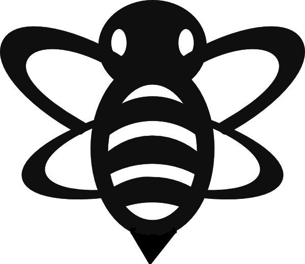 Bee  black and white photos of bumble bee clip art black and white cute