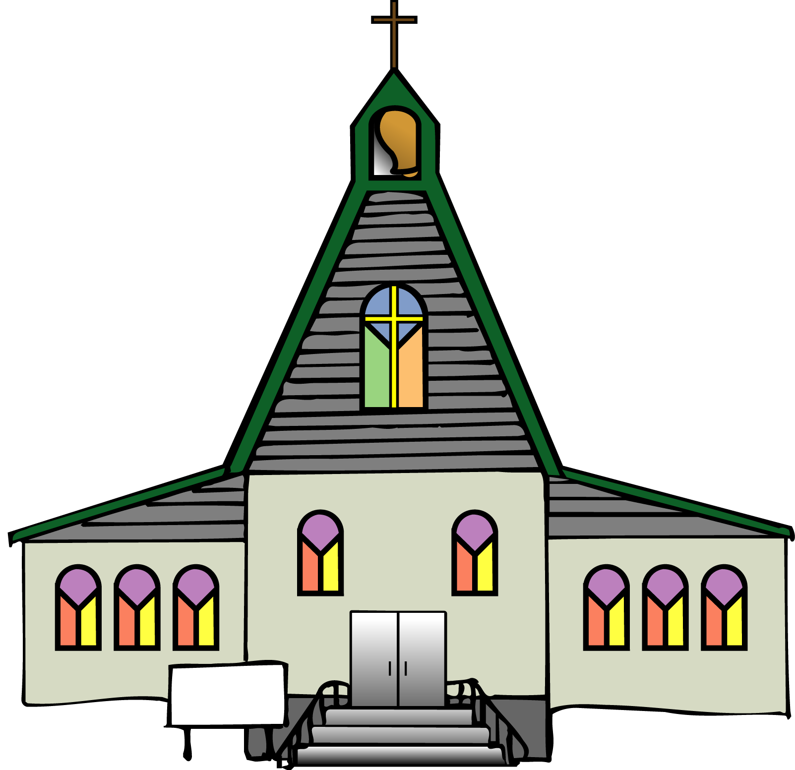 Black church clip art free clipart images 4