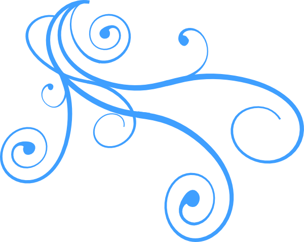Blue curly wind clip art at vector clip art