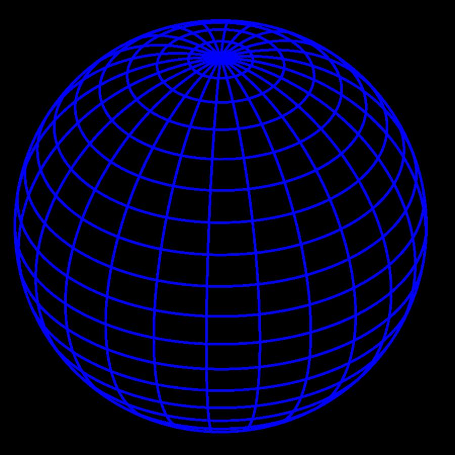 Blue globe clipart