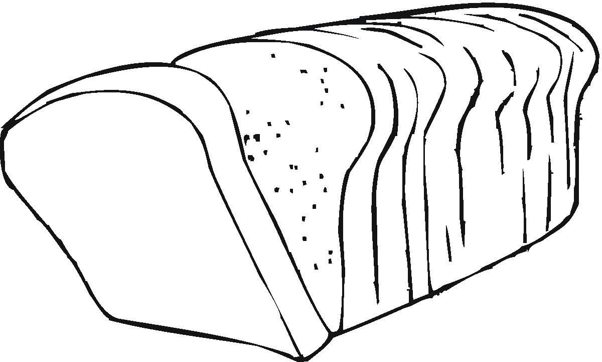 Bread black and white clip art bread clipart