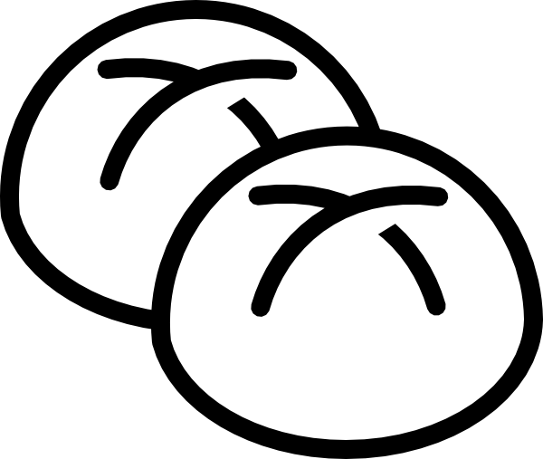 Bread clipart black and white free images 2
