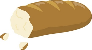 Bread clipart image clip art of a cut loaf french