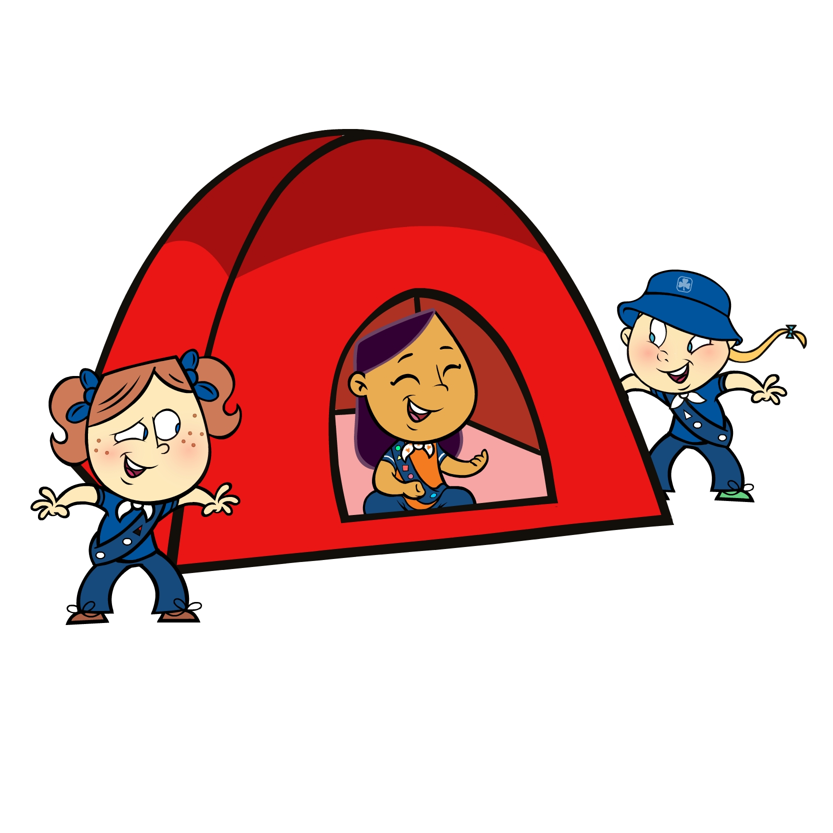 Camping sleepover clipart