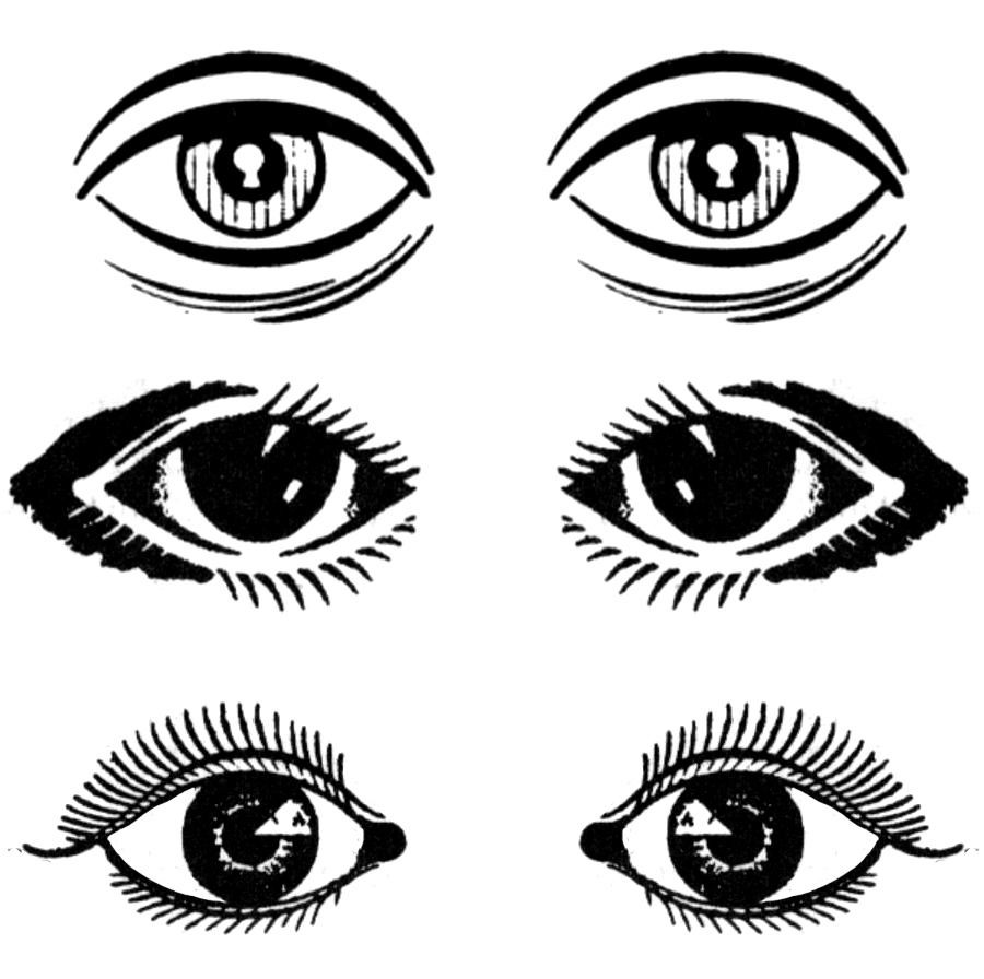 Cartoon eyes clip art and eyes on