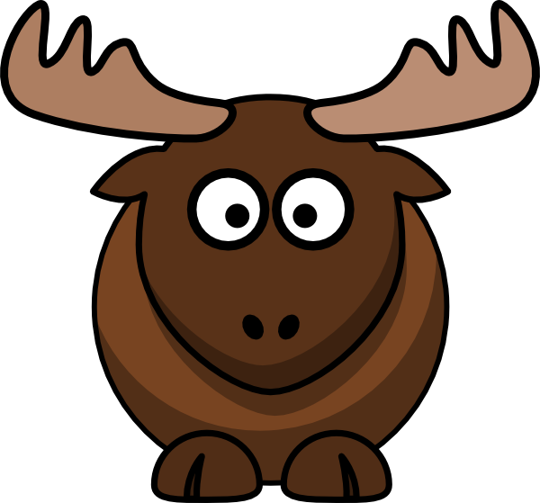 Cartoon moose clipart 2