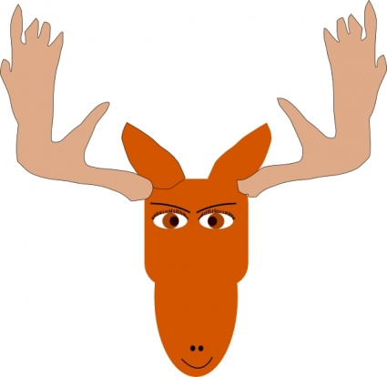 Cartoon moose clipart 4