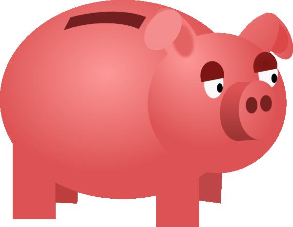 Cartoon piggy bank clipart