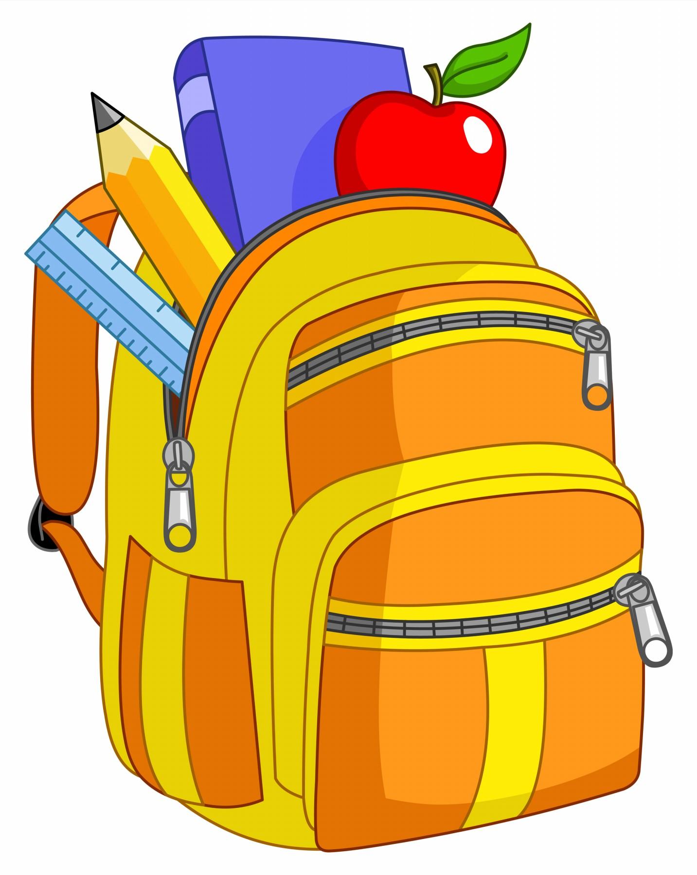 Cartoon school supplies clipart