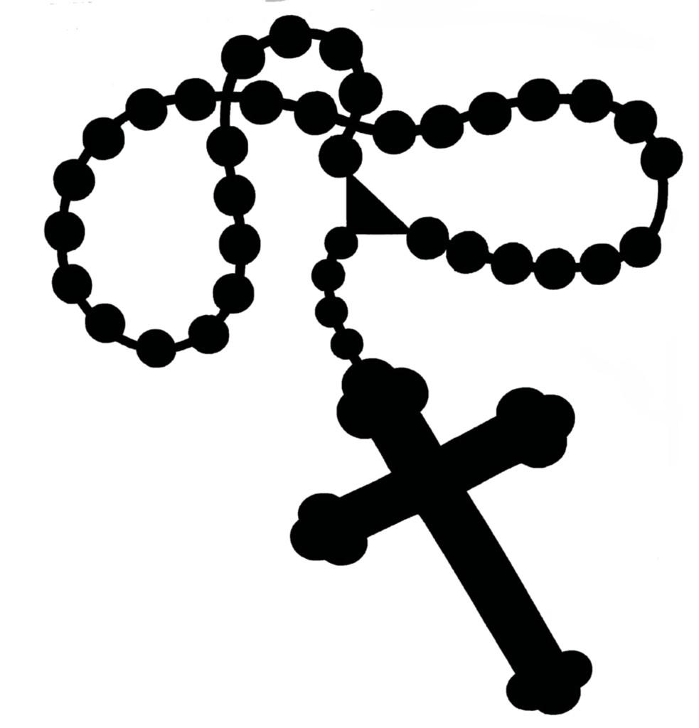 Catholic rosary clipart 2