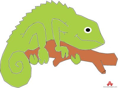 Chameleon animals clipart of lizard with the keywords