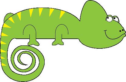 Chameleon clip art 2