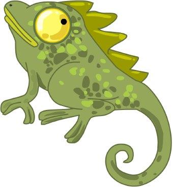 Chameleon clip art