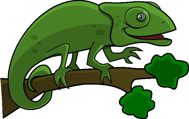 Chameleon clipart 2