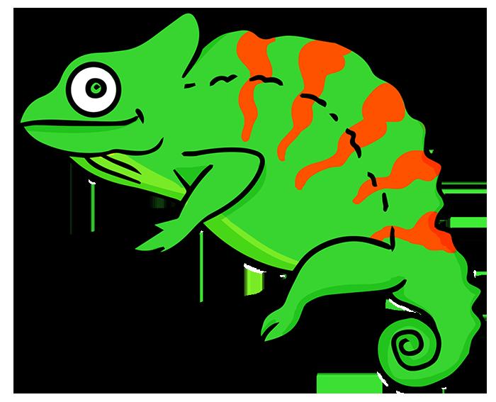 Chameleon clipart free images 2