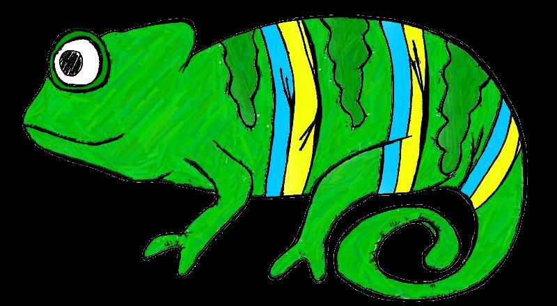 Chameleon clipart free images 4