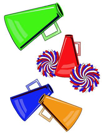 Cheer megaphone clipart black and white free 7