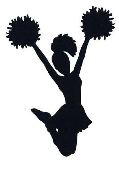 Cheerleader cheer megaphone clipart black and white free
