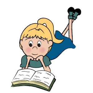 Child reading book clip art clipart image 2 2