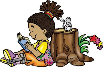Child reading children reading books images clipart