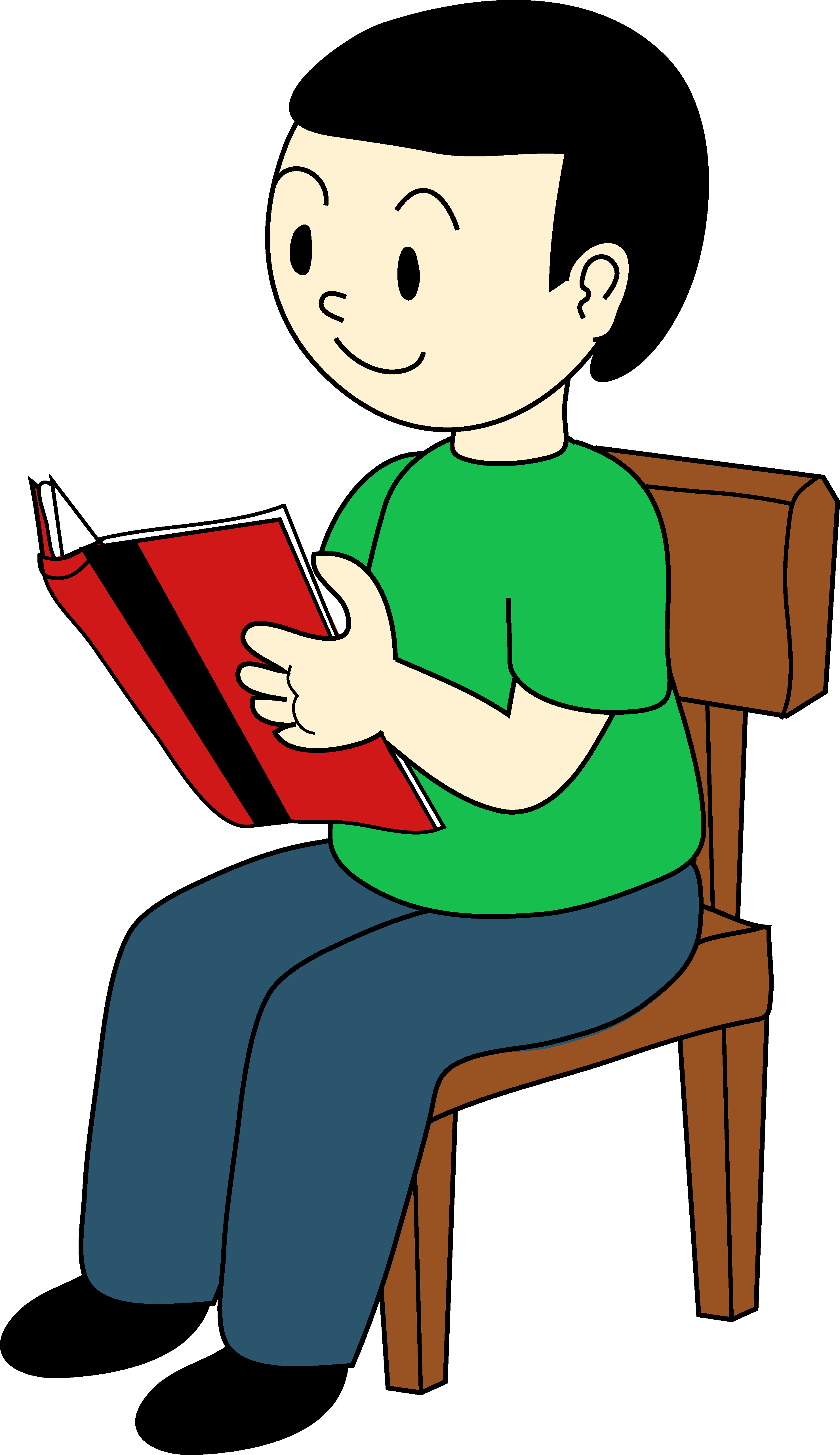Child reading kids reading clipart free images 3