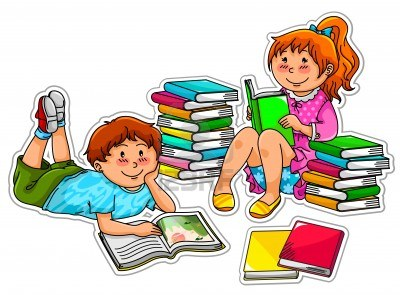 Child reading kids reading together clipart free images