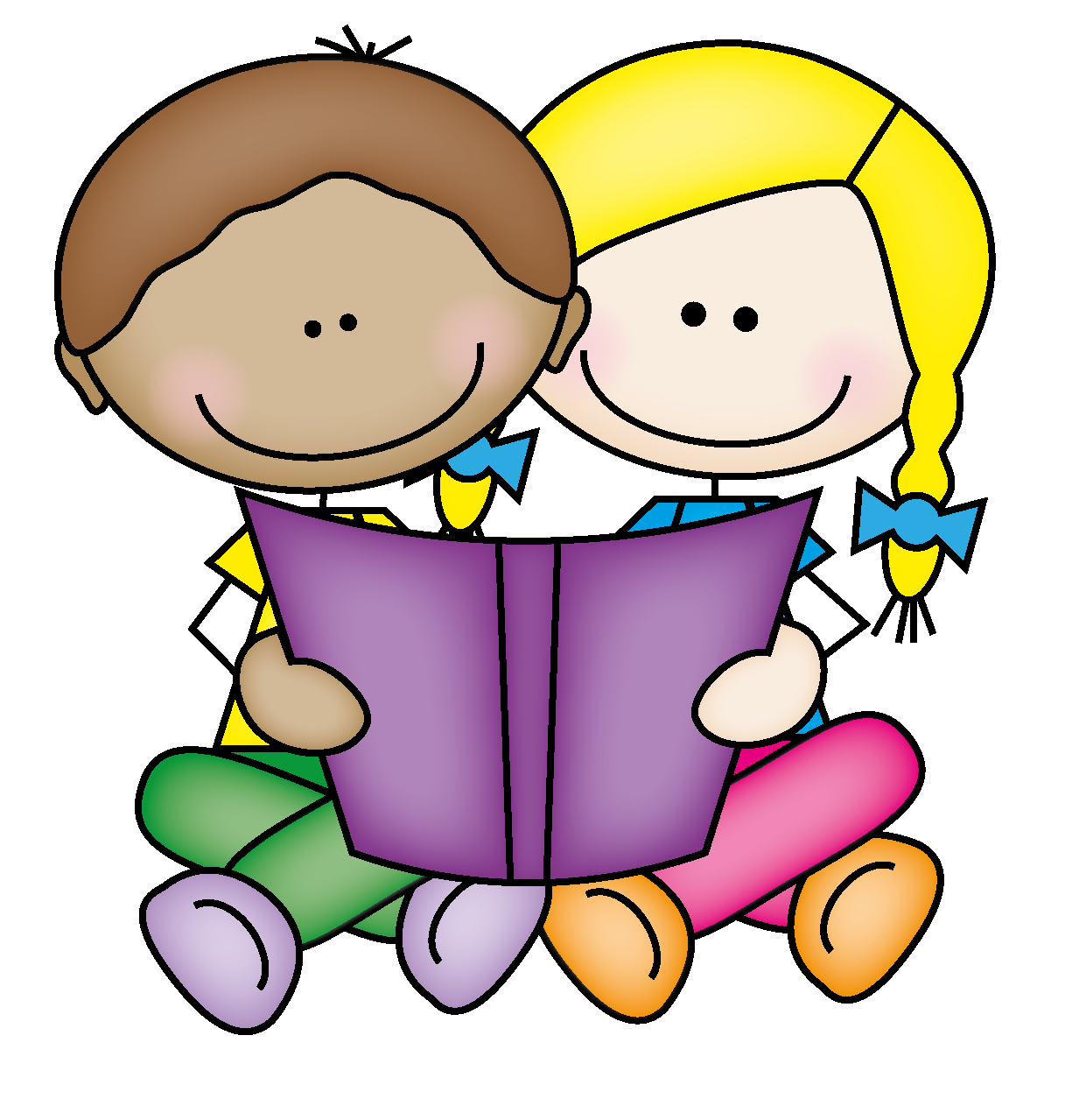 Child reading parent reading clipart 2
