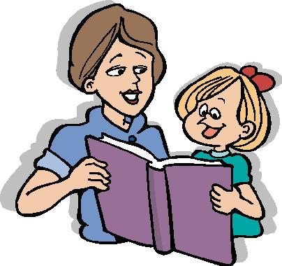Child reading parent reading clipart 4