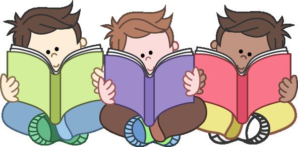 Child reading parent reading clipart