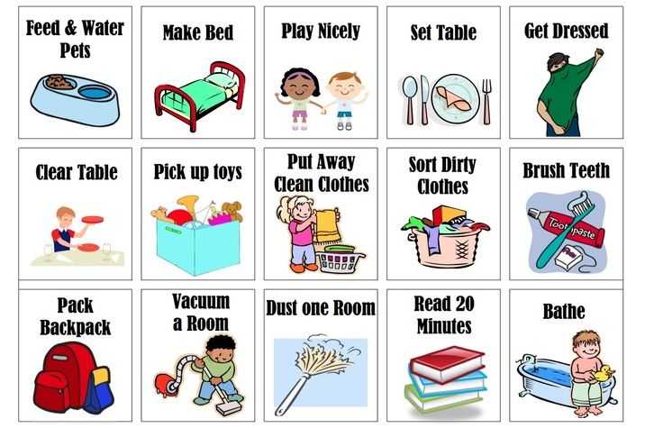 Chores images of toddler chore chart clip art kids